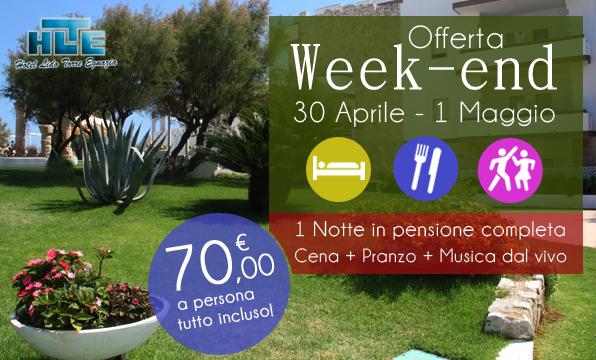 offerta week-end 1 maggio